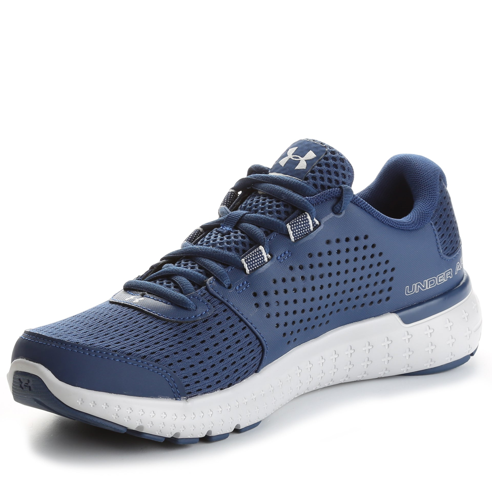 Under Armour Micro G Fuel Running Shoes- Blackout Navy Glacier  Grey Metallic Silver c38161aa1