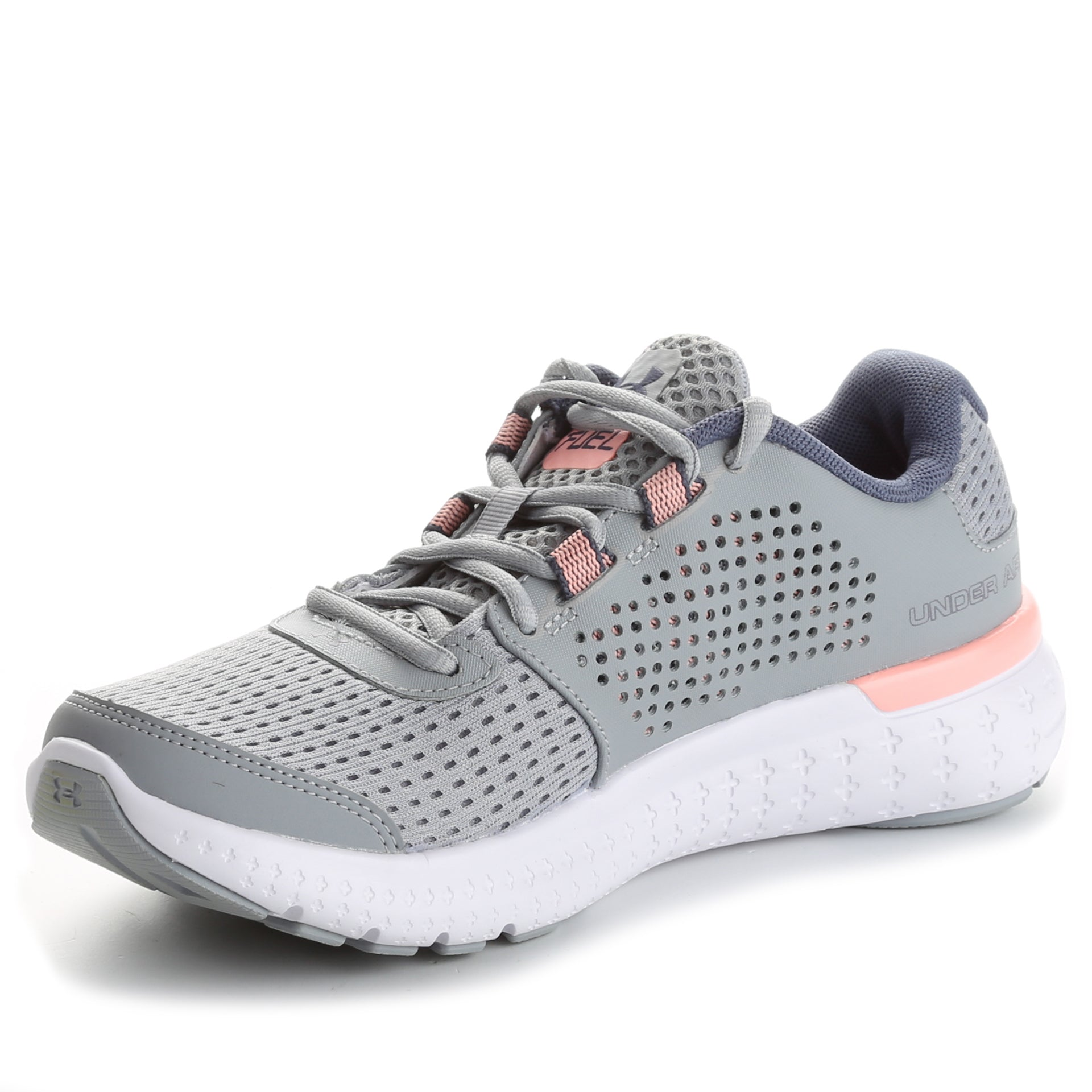 half off 5f12d 8129e Under Armour Women's Micro G Fuel Running Shoes- Overcast Grey/Pink  Sands/Apollo Grey