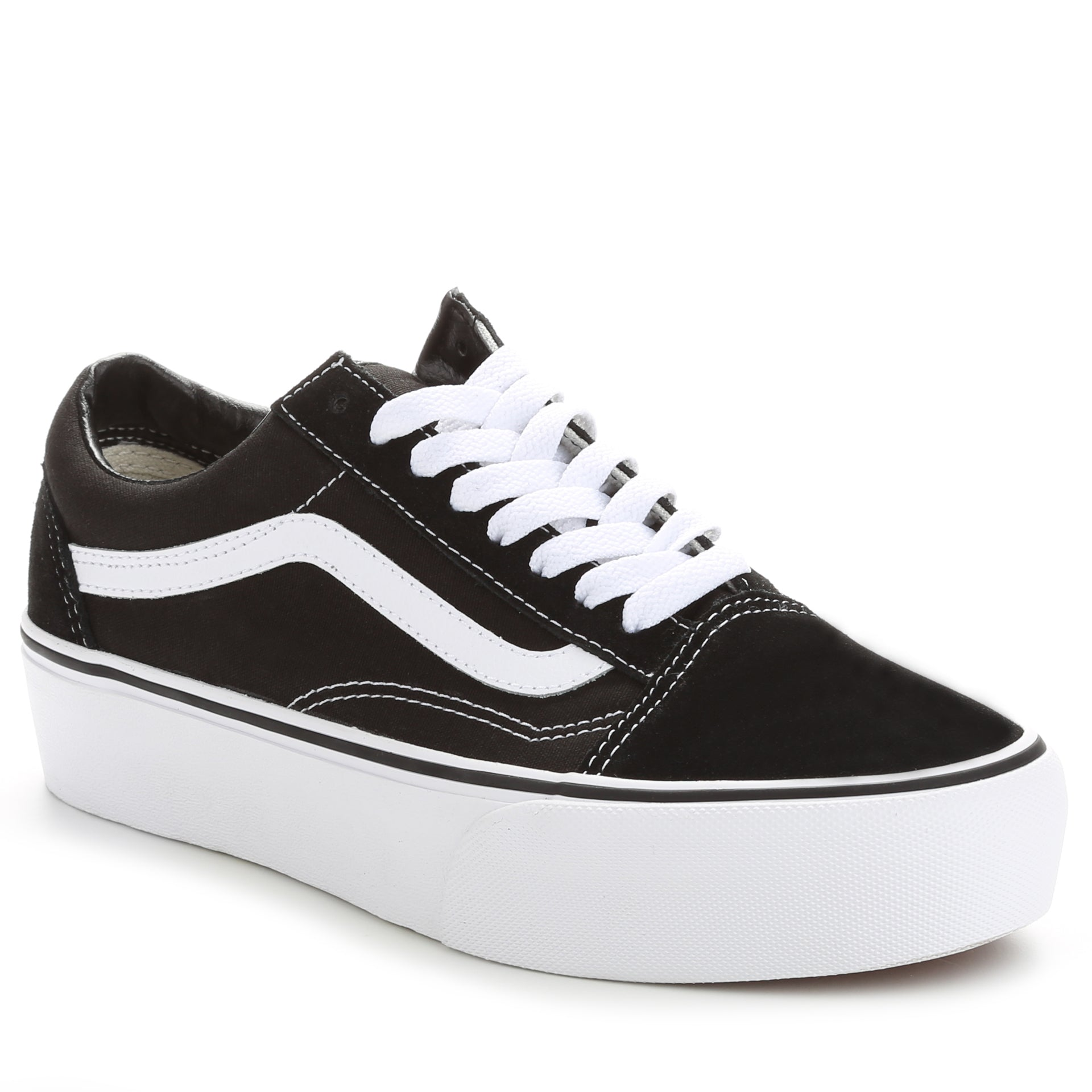 d3d2c833172501 Vans Women s Old Skool Platform - Black White - New Star