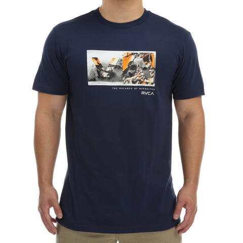 RVCA Photo Balance T-Shirt - Federal Blue