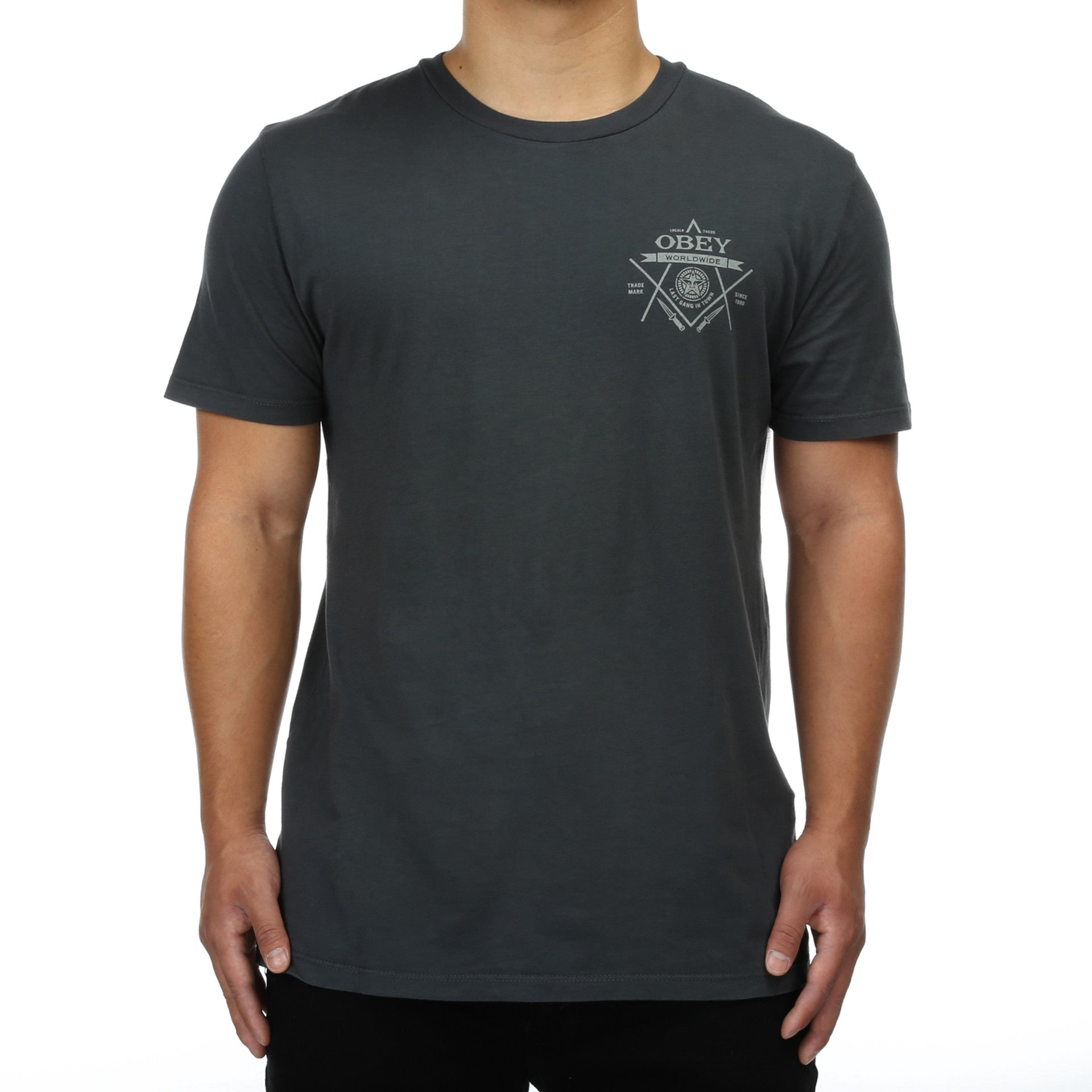 Obey Normal Tee L/S Pirate Black/S y5mtMXAc