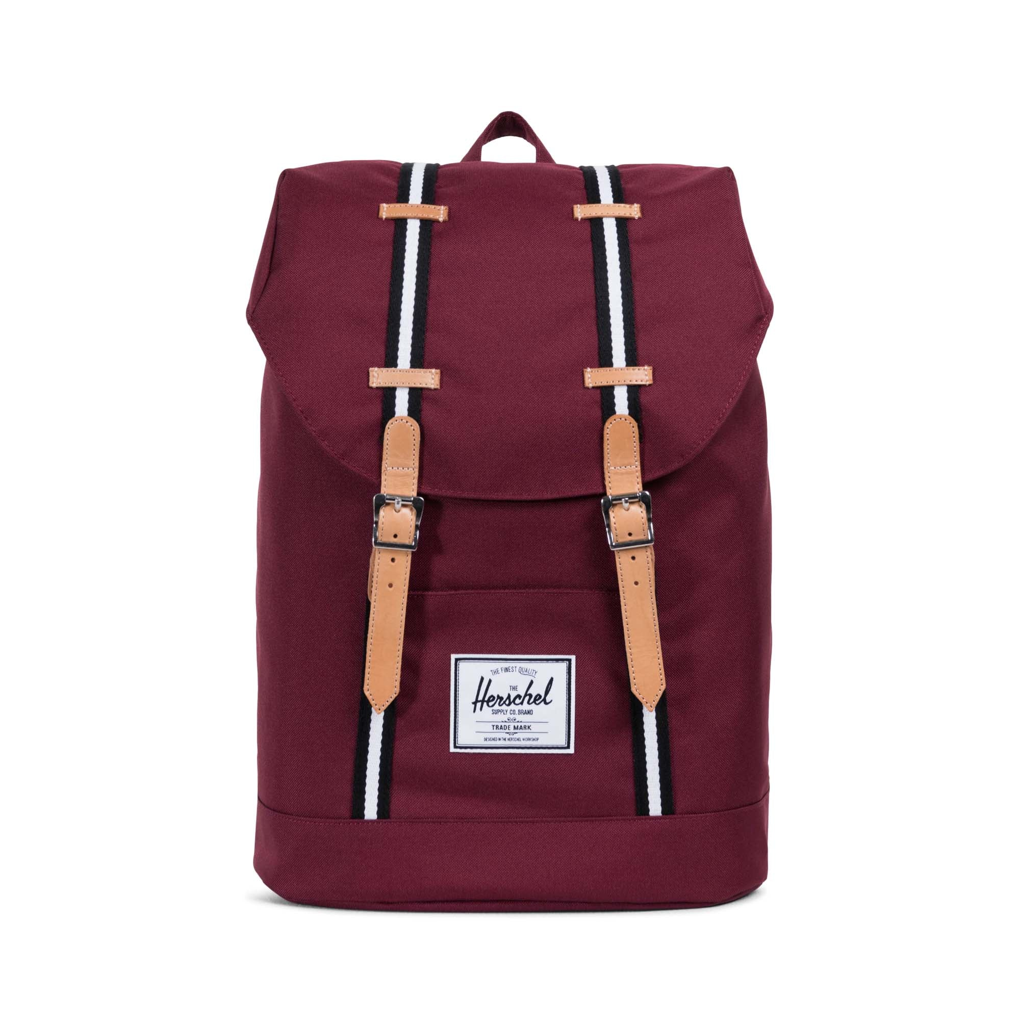 2c04c3bc21 Herschel Offset Collection Retreat Backpack - Windsor Wine Leather ...