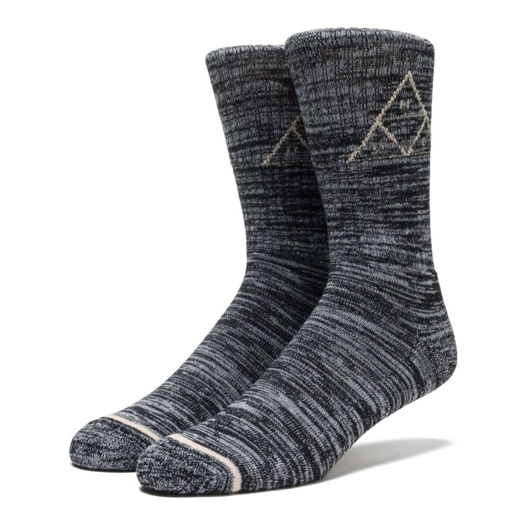 Sast Sale Online Triple Triangle Socks In Black Melange - Black HUF Discount Prices 2018 High Quality Cheap Online Red Pre Order Eastbay nLc3eqQAcq