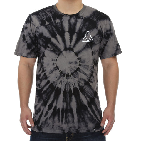 Huf Washed Triple Triangle Tee - Black