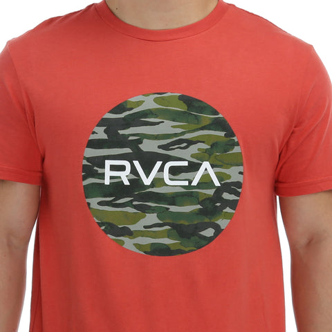 RVCA Water Camo Motors T-Shirt - Baked Apple