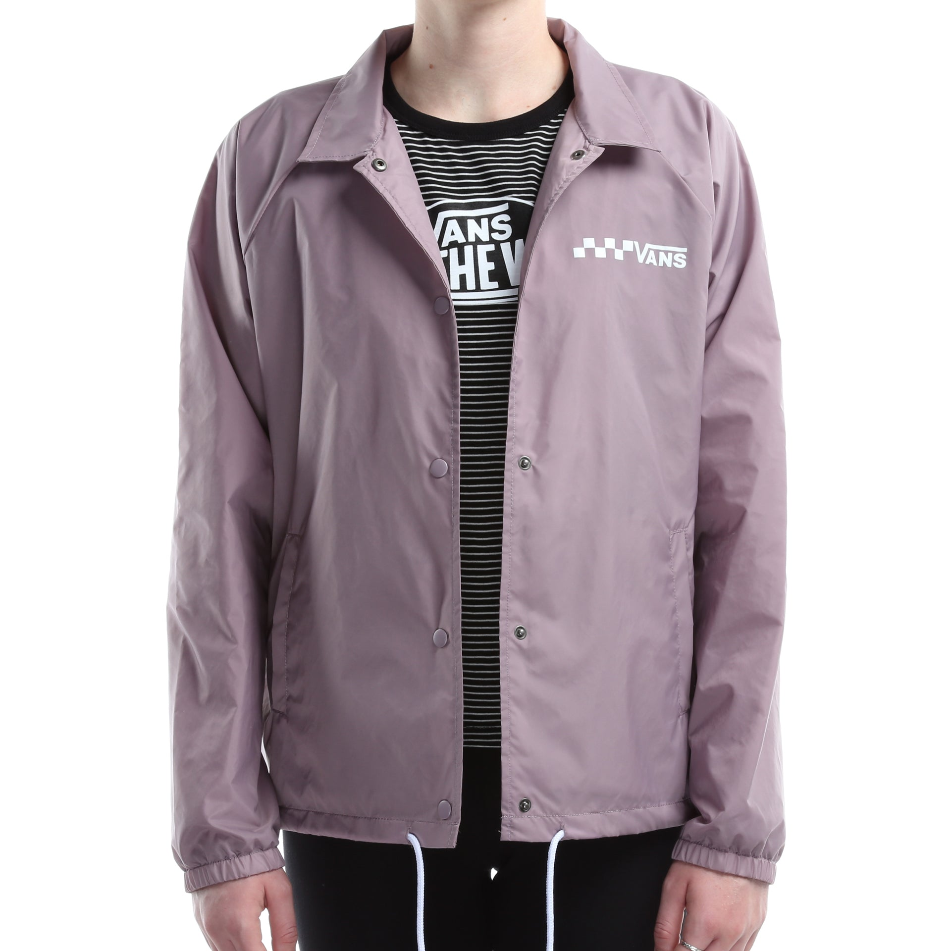 aa8b3606b5 Vans Womens Thanks Coach Jacket - Sea Fog - New Star