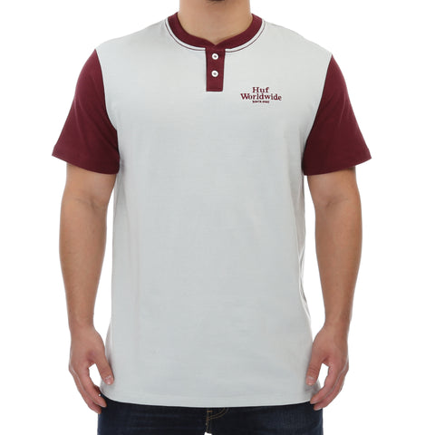 Huf Worldwide Henley - Ash/Wine