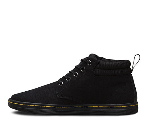 Dr Martens Belmont Boot - Black Canvas + Game On