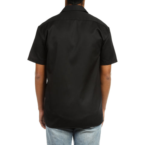 Dickies Mens S/S Work Shirt - Black
