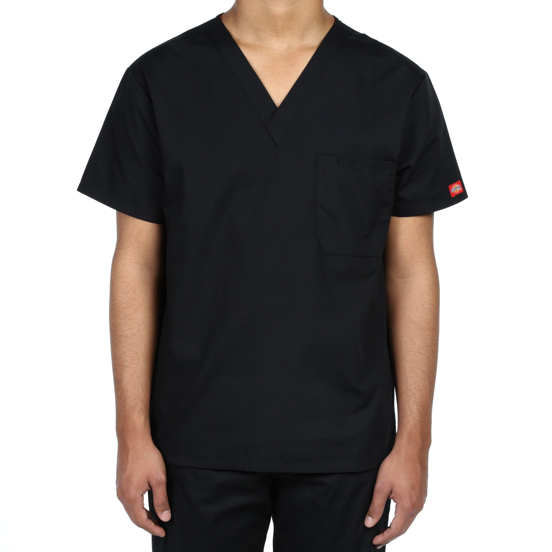 791a50e5dd5 Dickies Unisex V-Neck One Pocket Scrub Top - Black - New Star