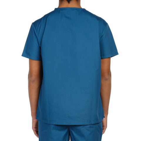 Dickies Unisex V-Neck One Pocket Scrub Top - Caribbean