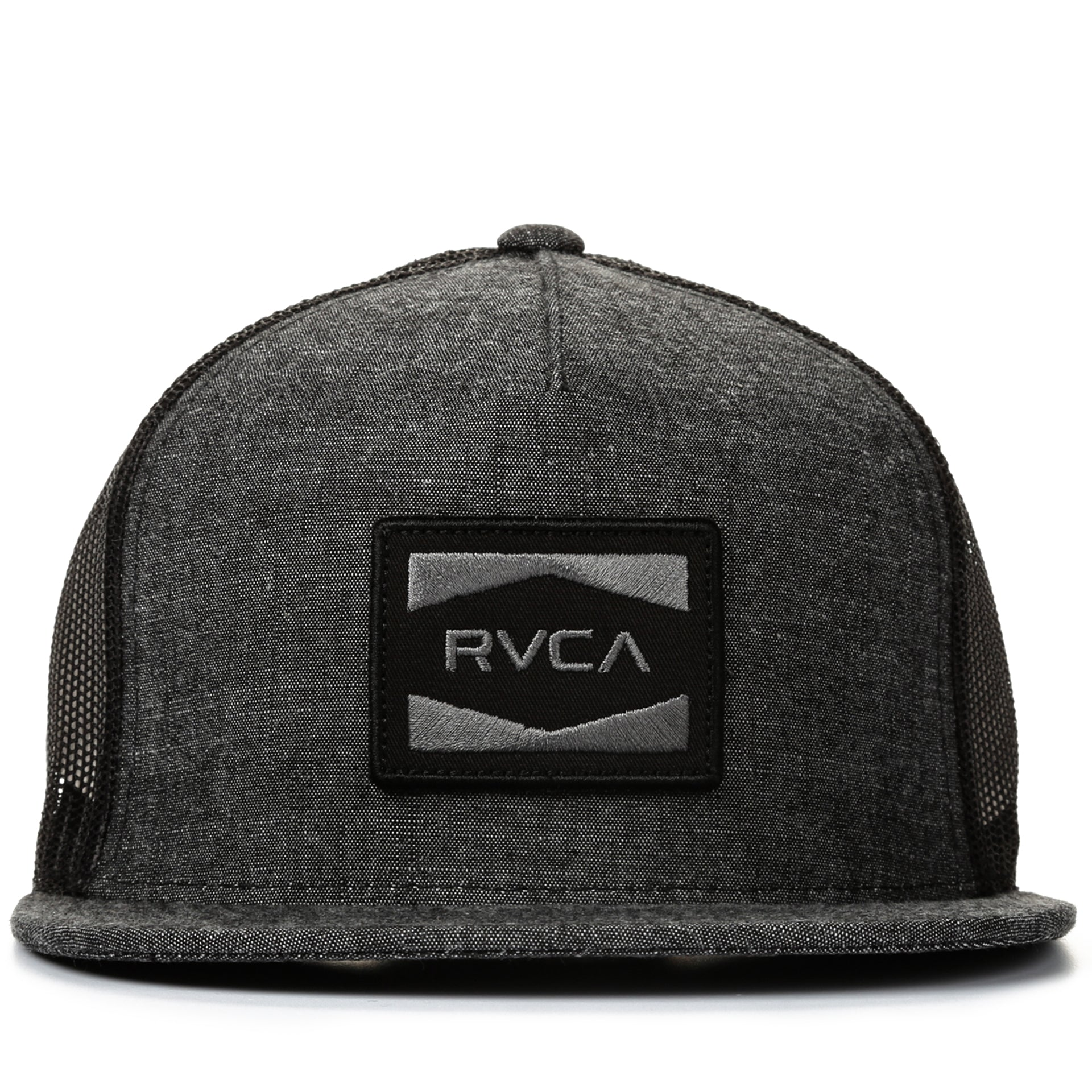 7899d0a6ce7c4a RVCA Cedars Trucker Hat - Black Denim - New Star