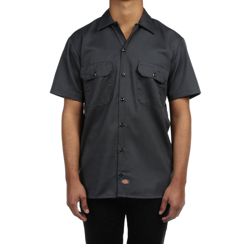 Dickies Mens S/S Work Shirt - Charcoal