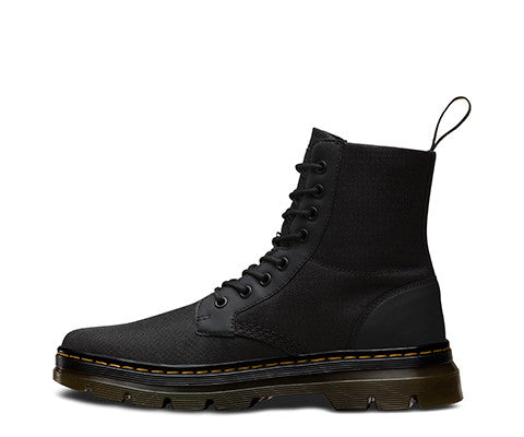 Dr Martens Combs Boot - Black Extra Tough Nylon + Rubbery