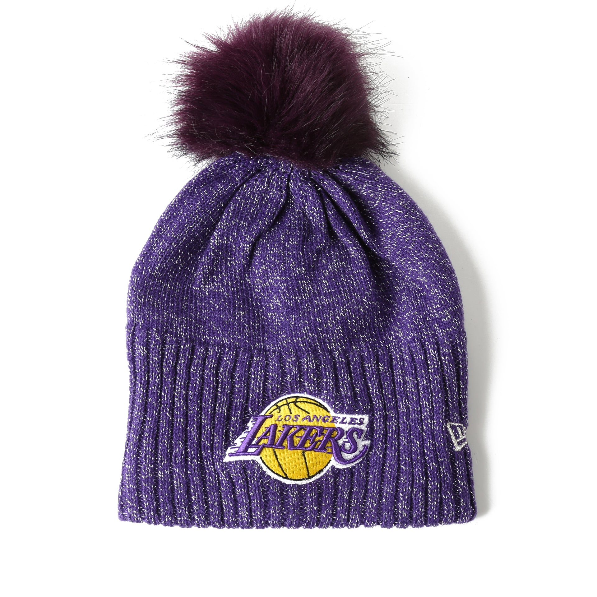 New Era Women s Dazzle Knit Beanie - Los Angeles Lakers Purple - New ... 29eab918d9f