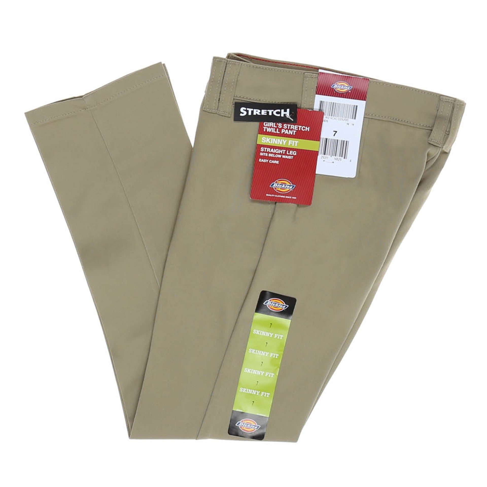 435f71fdb8c Dickies Girls Stretch Skinny Straight Pant (7-20) - Desert Sand ...