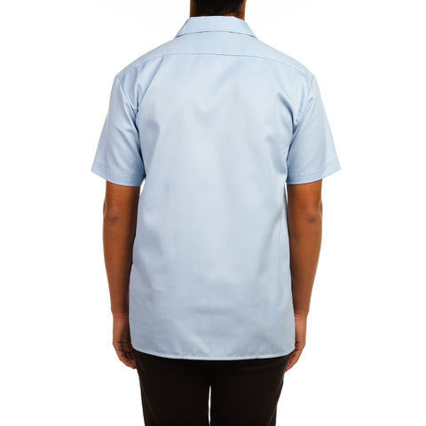 Dickies Mens S/S Work Shirt - Light Blue