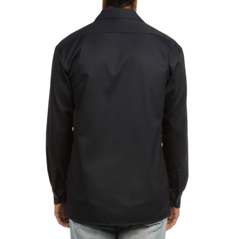 Dickies Mens L/S Work Shirt - Dark Navy