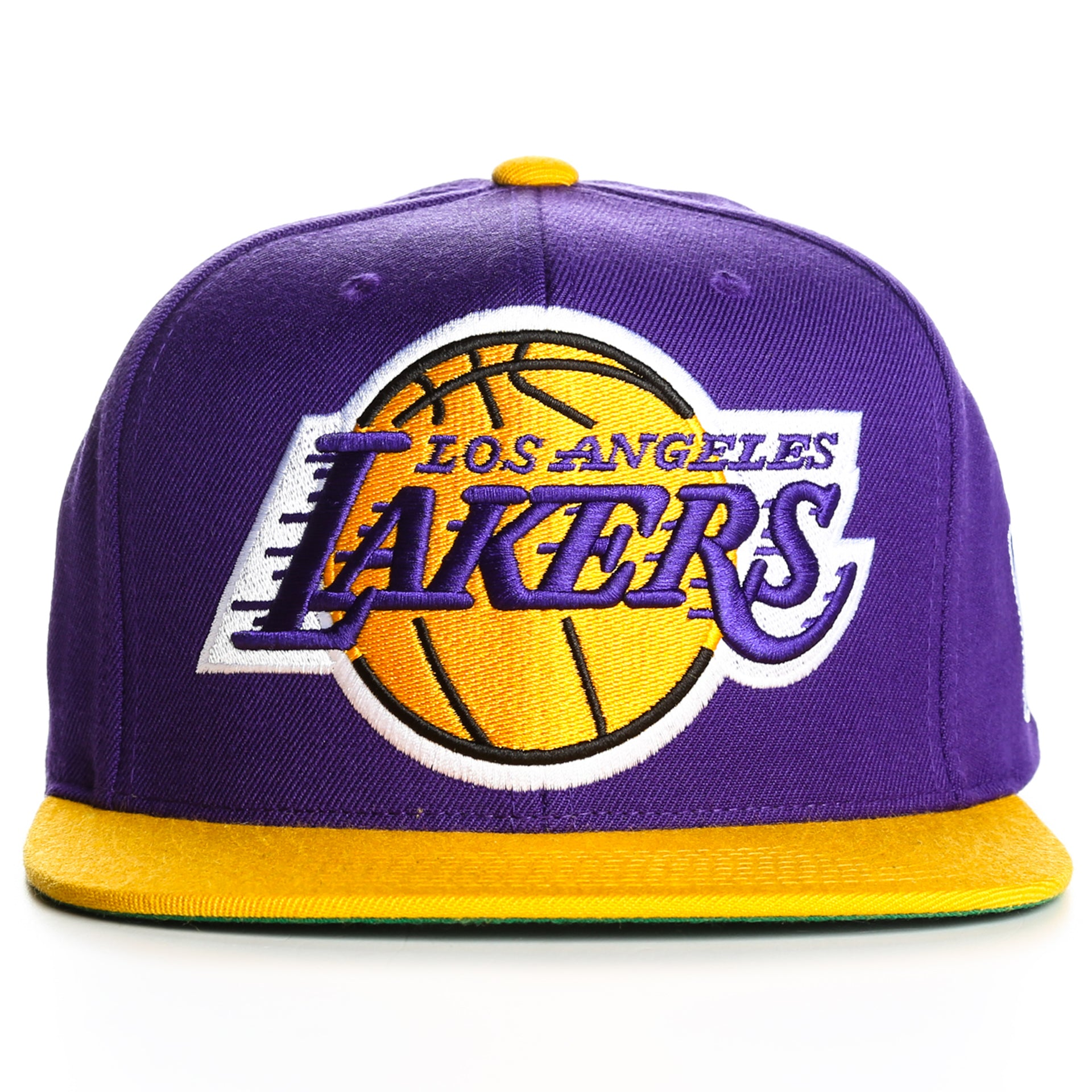 Mitchell and Ness XL Logo 2 Tone LA Lakers Snapback - Purple Gold ... 4cfb2cf0fb2b