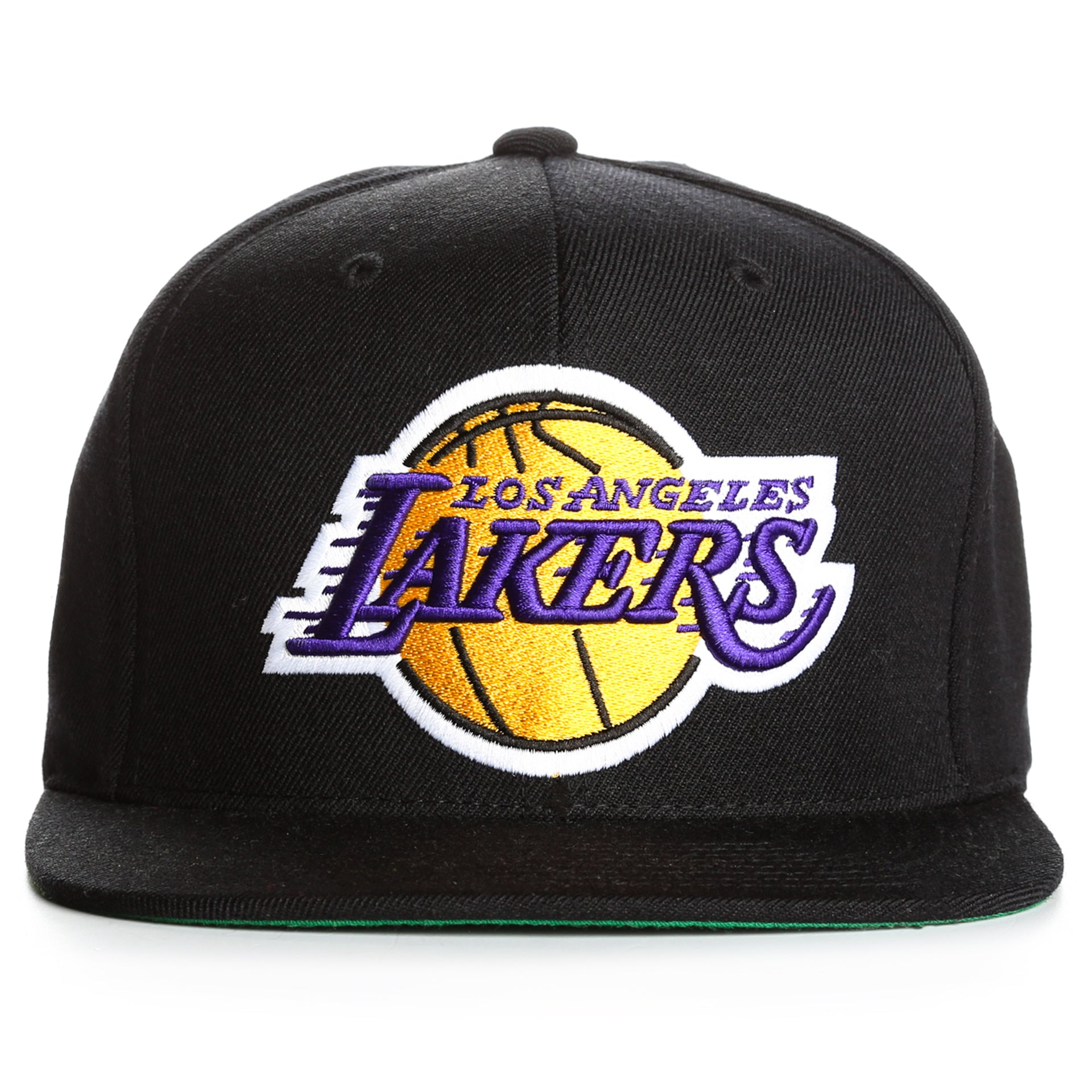 ed5d1a49d3 Mitchell and Ness Wool Solid LA Lakers Snapback - Black - New Star