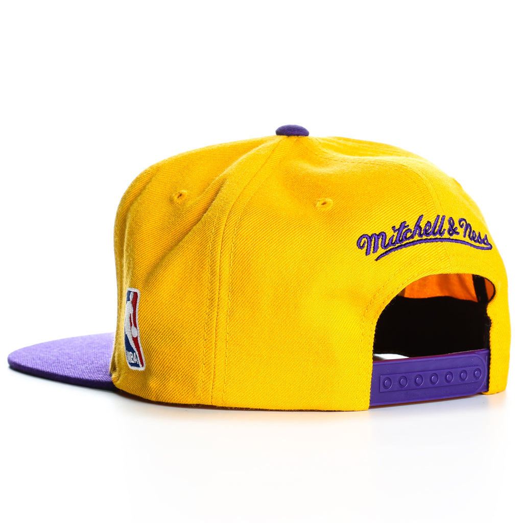 ab69ef7b2f8509 Mitchell and Ness XL Logo 2 Tone LA Lakers Snapback - Gold/Purple ...