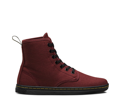 Dr. Martens Shoreditch Cherry Red Canvas Boots