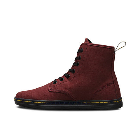 Dr Martens Shoreditch Boot - Cherry Red Canvas