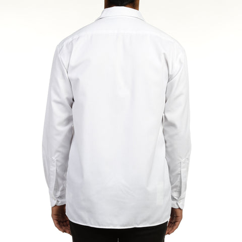 Dickies Mens L/S Work Shirt - White