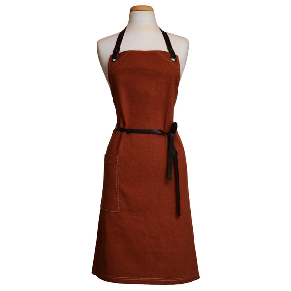 Adult Apron with leather adjustable straps