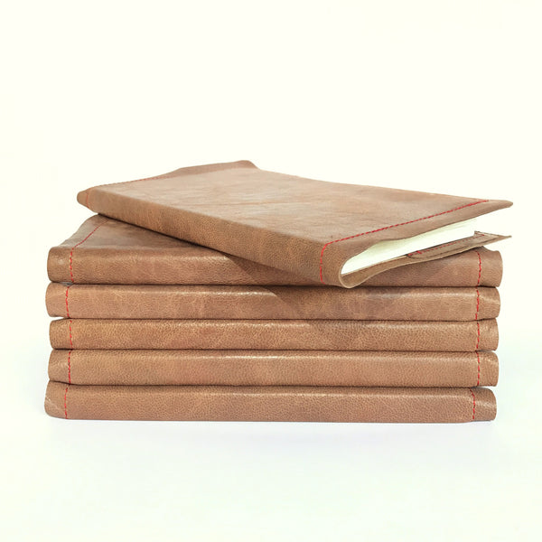Leather Travel Journal handmade with recycled paper