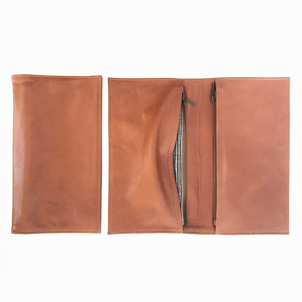 Leather Travel Clutch quality design