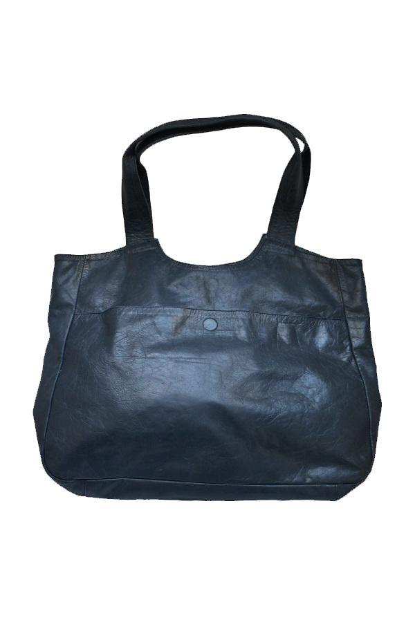 Leather Tote Black