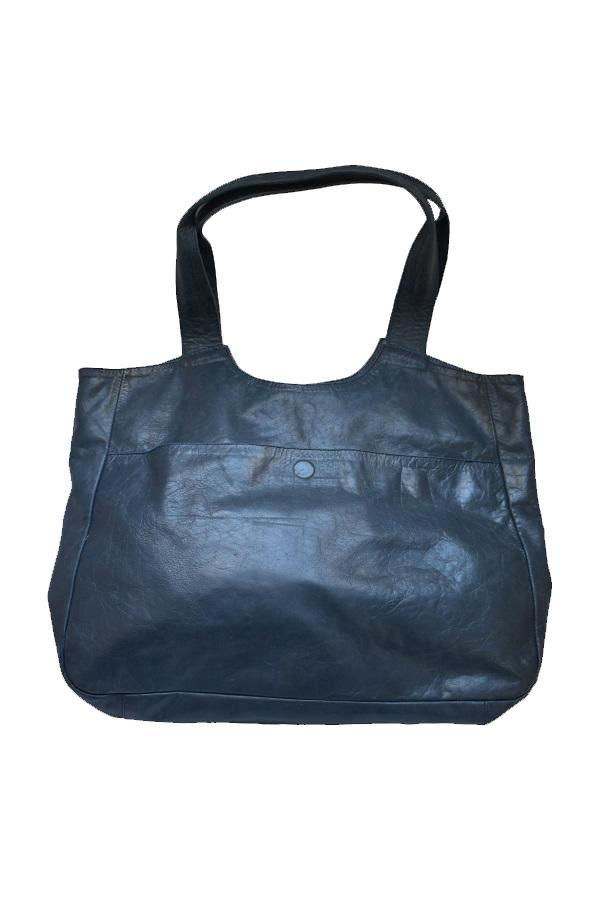 Leather Navy Tote