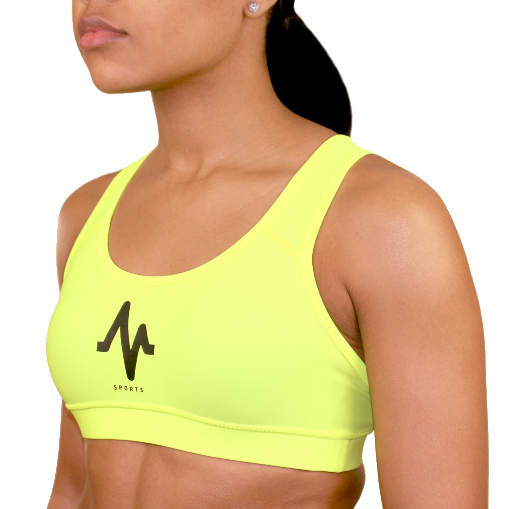 M Sport Neon Yellow Sports Bra