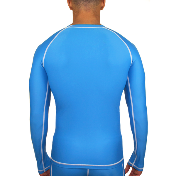 Mungo Elevation Blue Compression Long Sleeve