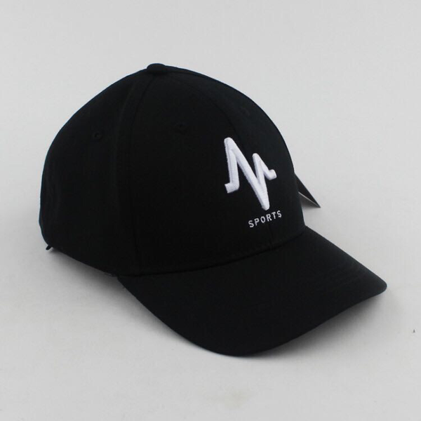 Mungo White on Black Baseball Cap