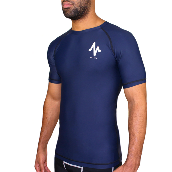 Mungo Elevation Navy Compression T-Shirt