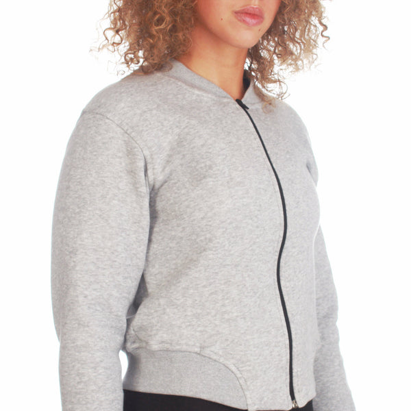 Mungo Grey Cropped Jacket