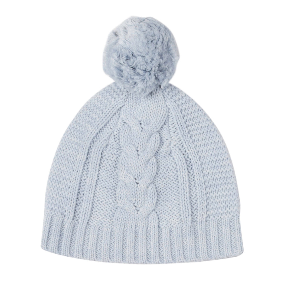 Lighterweight Cable Beanie - Pale Blue
