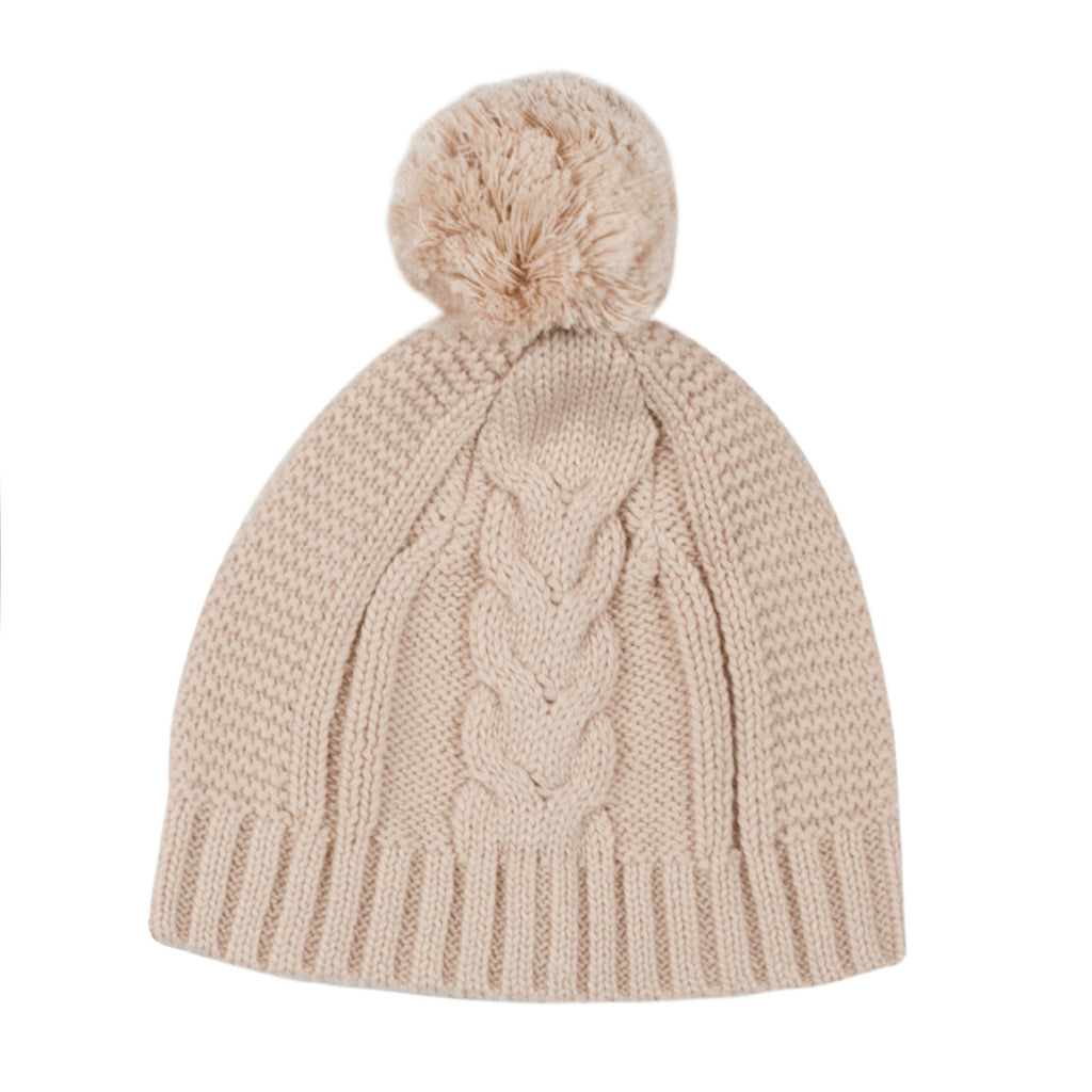 Lighterweight Cable Beanie - Latte