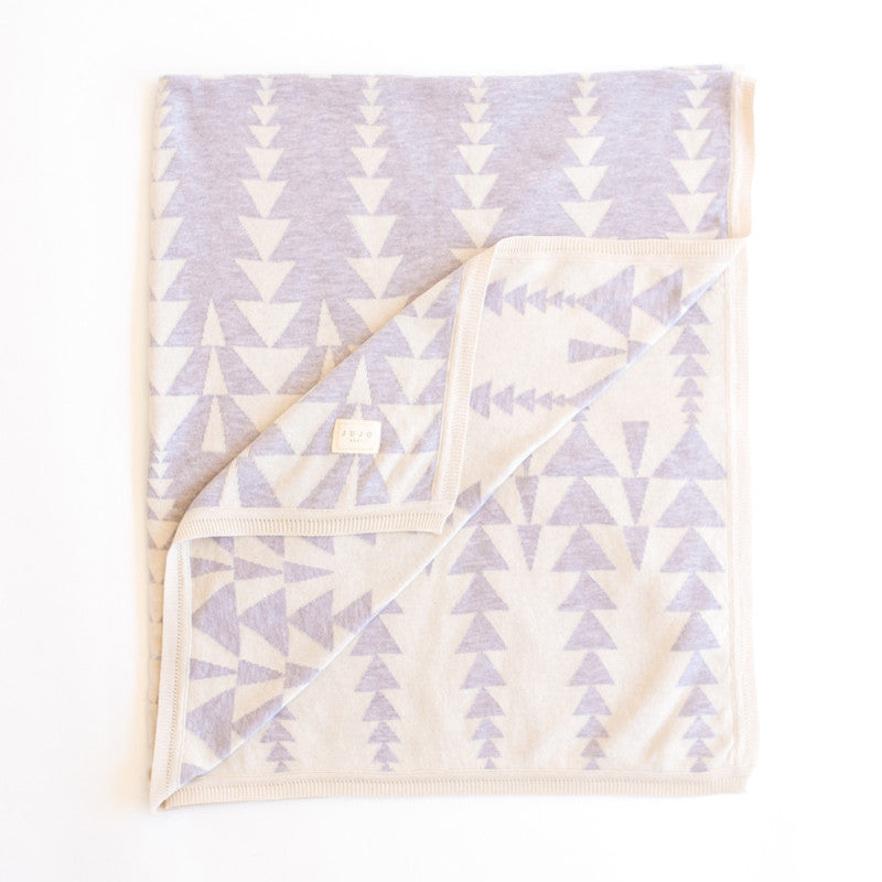 Graduating triangles Blanket  - mink/natural