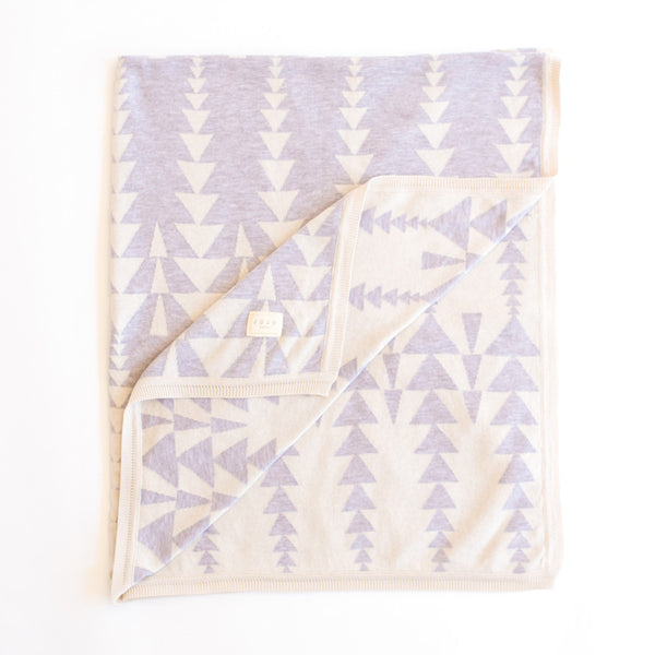 .Graduating triangles Blanket  - mink/natural