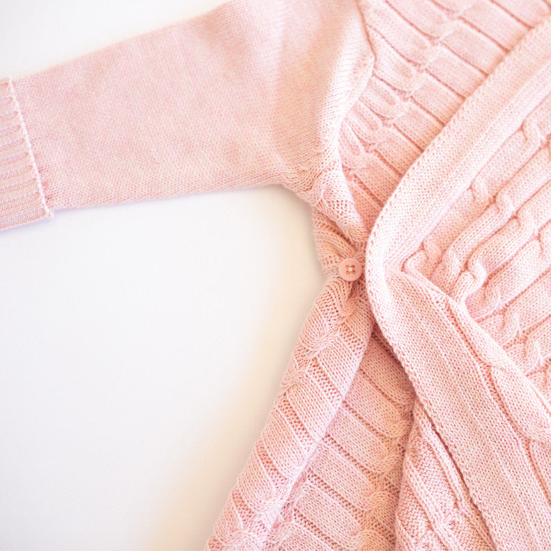 All over luxury cable Shwrap™  pink melange
