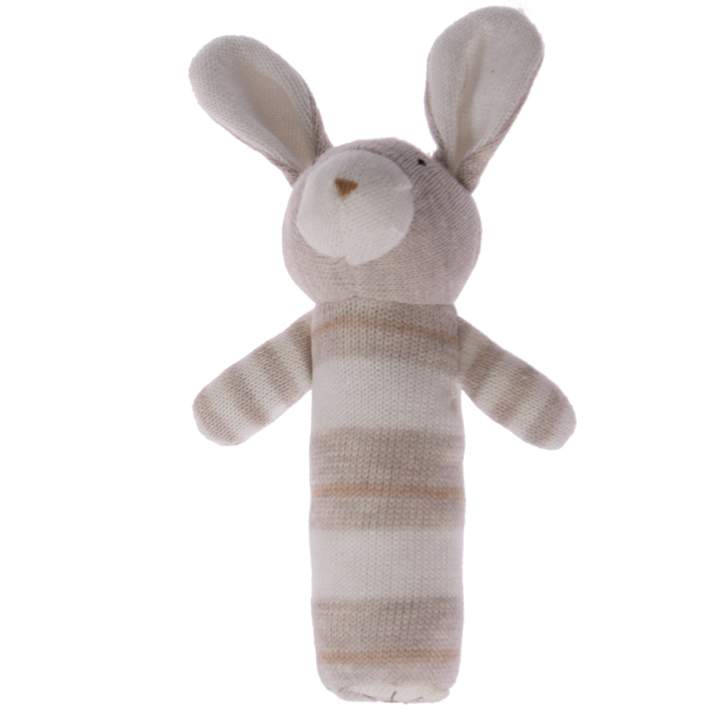 Knitted Rabbit Rattle