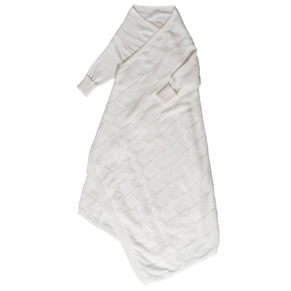 Chevron pointelle Shwrap™ - Milk