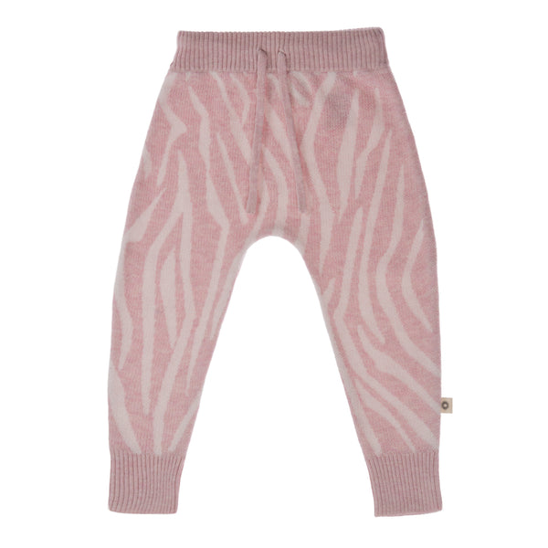 Animal Pattern Pant - pink/ecru