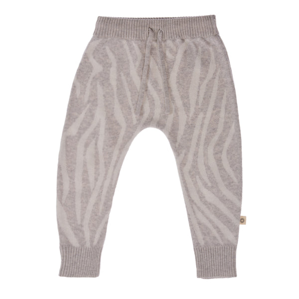 Animal Pattern Pant - silver/ecru