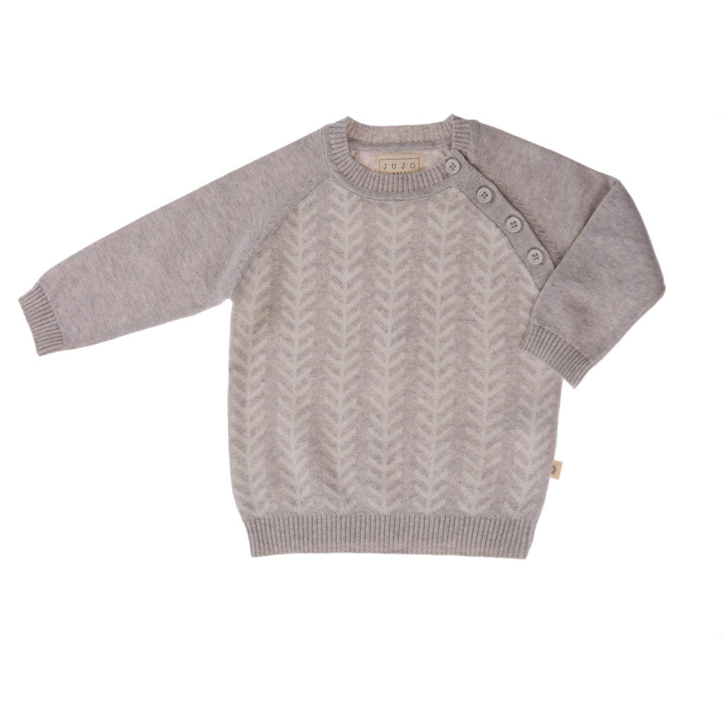 Feathered Line Jumper - silver/ecru
