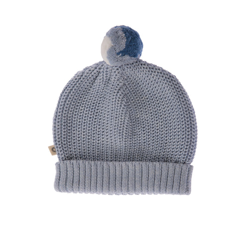 Knitted Beanie - Pale blue