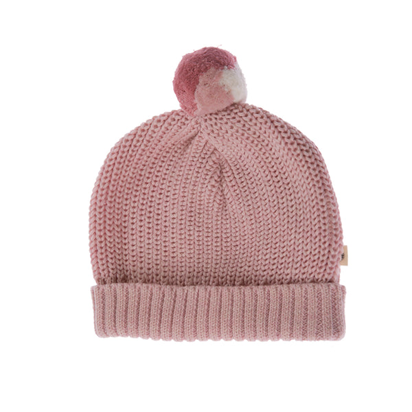 Knitted Beanie - Blush Pink